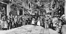 Торжественное открытие торговых рядов в «Пассаже», 1900 г.