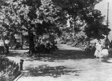 Одеса. Бульвар ім. Фельдмана. Фото Б. Левіта. Поштова картка. 1938 р.