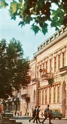 Палац моряка. Фото В.П. Дєдова в фотобуклеті «Одеса. Сторінки революційної слави», 1973 г.