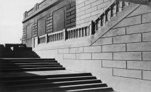 Реконструкция стадиона, центральный выход на поле, 1946-1950 годы