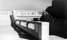 Реконструкция стадиона, выход на центральную трибуну, 1946-1950 годы