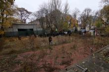 На территории Летнего театра. Фото О. Владимирского. 18 ноября 2017 г.