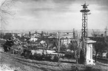 Одесса. Вид порта с бульвара Фельдмана. Почтовая карточка. 1930-е гг.