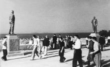 Стадион «Пищевик», центральный вход на трибуны 11 августа 1946 г.