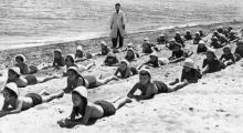Пляж Лузановка, солнечные ванны, «Молодая гвардия»