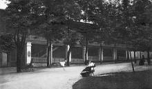 Одесса. Хаджибейский лиман. Верхнее здание в парке. Открытое письмо