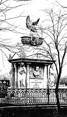 Памятник португальскому консулу в Одессе графу Жаку Порро, фото из фондов Одесской государственной библиотеки им. М. Горького