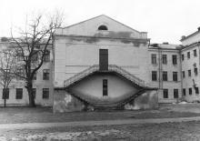 Ул. Воробьева, № 24, во дворе школы № 76. 1980-е гг.