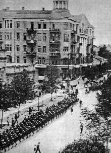 Одесса, ул. Пушкинская угол ул. Зиновьева (Троицкая), 1927 г.