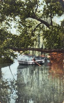 Одесса. Хаджибейский лиман. Вид на озеро с левой стороны. Открытое письмо. Издание Асседоретфегс. 1911 г.