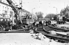 Улица Советской Армии (Преображенская), справа Привоз, фотография из музея ОГЭТ, начало 1970-х годов