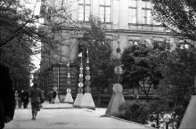 Советской Армии (Преображенская), вход в горсад, 1957 г.