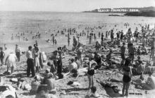 Одесса. Ланжерон. Пляж. По подписи 1947 г.