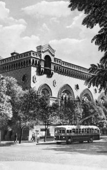 Одеса. Державна філармонія. Фото Я. Таборовського. Поштова картка. 1954 р.