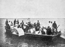 Куяльницкий (Андреевский) лиман. «Прогулка», колесная яхта лечебницы д-ра Амброжевича (катание по лиману)