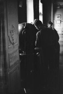 В музее «Оборона Одессы». Фото Льва Григорьевича Пикалёва. 1953 г.