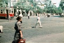 Дерибасовская угол Советской Армии (Преображенской), 1957 г.