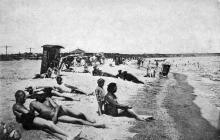 Одесса, Лузановка, пляж. Почтовая карточка. 1920-е годы