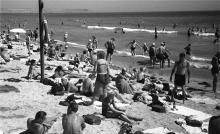 Лузановка, пляж, 1950-е годы