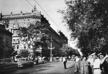 Odessa. Centre commercial rue Lenine. Carte postale. 1958