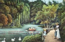 Одесса. Хаджибейский лиман. Вид озера справа. Открытое письмо. Издание Асседоретфегс