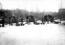 Соборная площадь, салют в честь освобождения Одессы, 1944 г.
