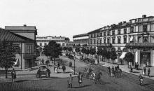 Городской театр и Ришельевская улица. Литография Юлия Берндта. Начало 1870-х гг.