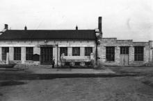 Столярный цех Одесской киностудии. Фото из коллекции Ольги Щербаковой. Конец 1940-х гг.