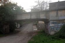 Вид на мост и ул. Рыбачью. Фото Е. Волокина. 10 октября 2016 г.