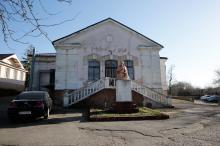 Памятник Т.Г. Шевченко в санатории МЧС. Фото Евгения Волокина, апрель, 2018 г.