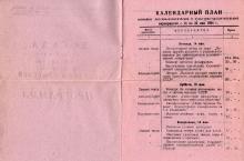 План мероприятий в парке им. Ильича, посвященный воссоединению Украины с Россией. 1954 г.