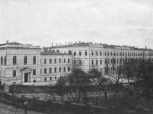 Институт благородных девиц с угла улиц Мечникова и Институтской. 1910-е гг.