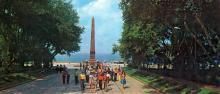 Аллея Славы и памятник Неизвестному матросу. Фото Б. Минделя на панорамной открытке из комплекта «Одесса». 1978 г.