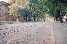 Колонтаевская, между Садиковской и Южной. Фото А.В. Валейно. 23 октября 2005 г.