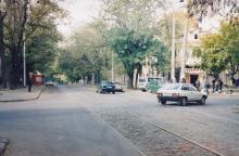 Колонтаевская угол Мастерской. Фото А.В. Валейно. 23 октября 2005 г.