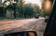 Колонтаевская, между Ризовской и Косвенной. Фото А.В. Валейно. 05 августа 2005 г.