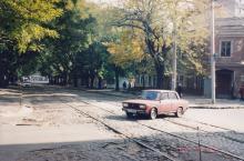 Колонтаевская угол Садиковской. Фото А.В. Валейно. 23 октября 2005 г.
