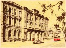 Одесса. Почтамт. Художник И.Н. Козлов. Рисунок на почтовом конверте. 1962 г.