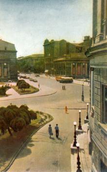 Одеса. Вулиця Леніна. Фото А. Підберезького з комплекту листівок «Одеса». 1962 р.