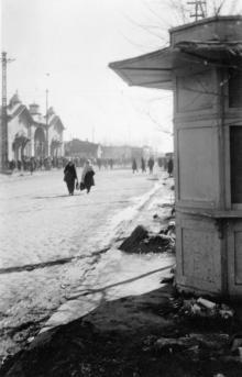 Одесса. На улице Короля Михая, возле «Привоза». 1942 г.