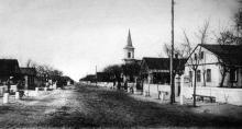 Люстдорф, вид улицы, 1900-е годы