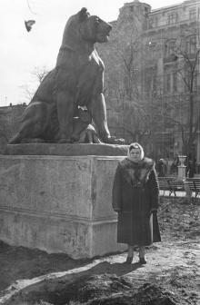 Дама в городском саду. Одесса. 1950-е гг.