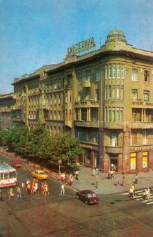 Одеса. Дерибасівська вулиця. Фото Р. Якименка з комплекту листівок «Одеса». 1980 р.
