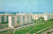 Одеса. Новобудови міста. Фото Р. Якименка з комплекту листівок «Одеса». 1980 р.