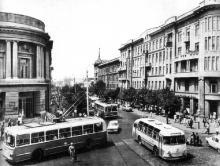 Дерибасовская угол Ленина (Ришельевская), 1960-е годы