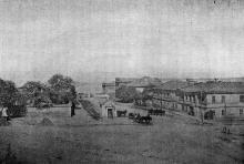 Конец Преображенской улицы (до 1870 года). Фотография в книге «Одесса. 1794-1894»