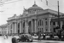 Одесса. Железнодорожный вокзал. 1960-е гг.