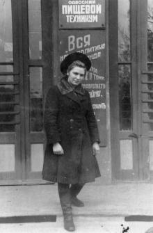 Пищевой техникум на ул. Хворостина, № 28. 1950-е гг.