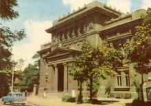 Научная библиотека. Цветное фото А. Подберезского из набора открыток достопримечательностей Одессы, 1963 г.