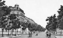 Одесса. Угол улиц Дерибасовской и Екатерининской. Литография